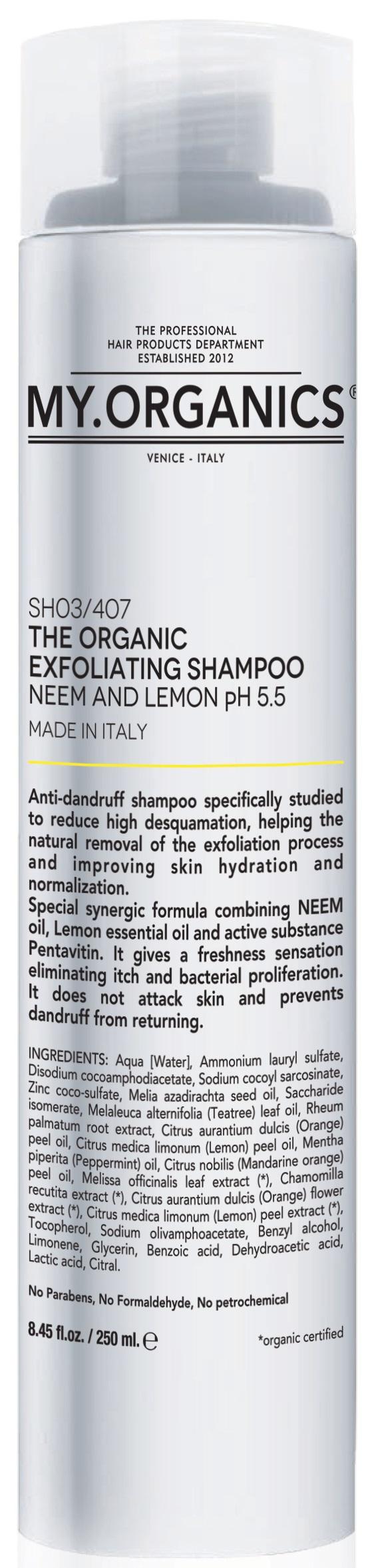 MY.ORGANICS The Organic Exfoliating Shampoo Neem And Lemon 250ml