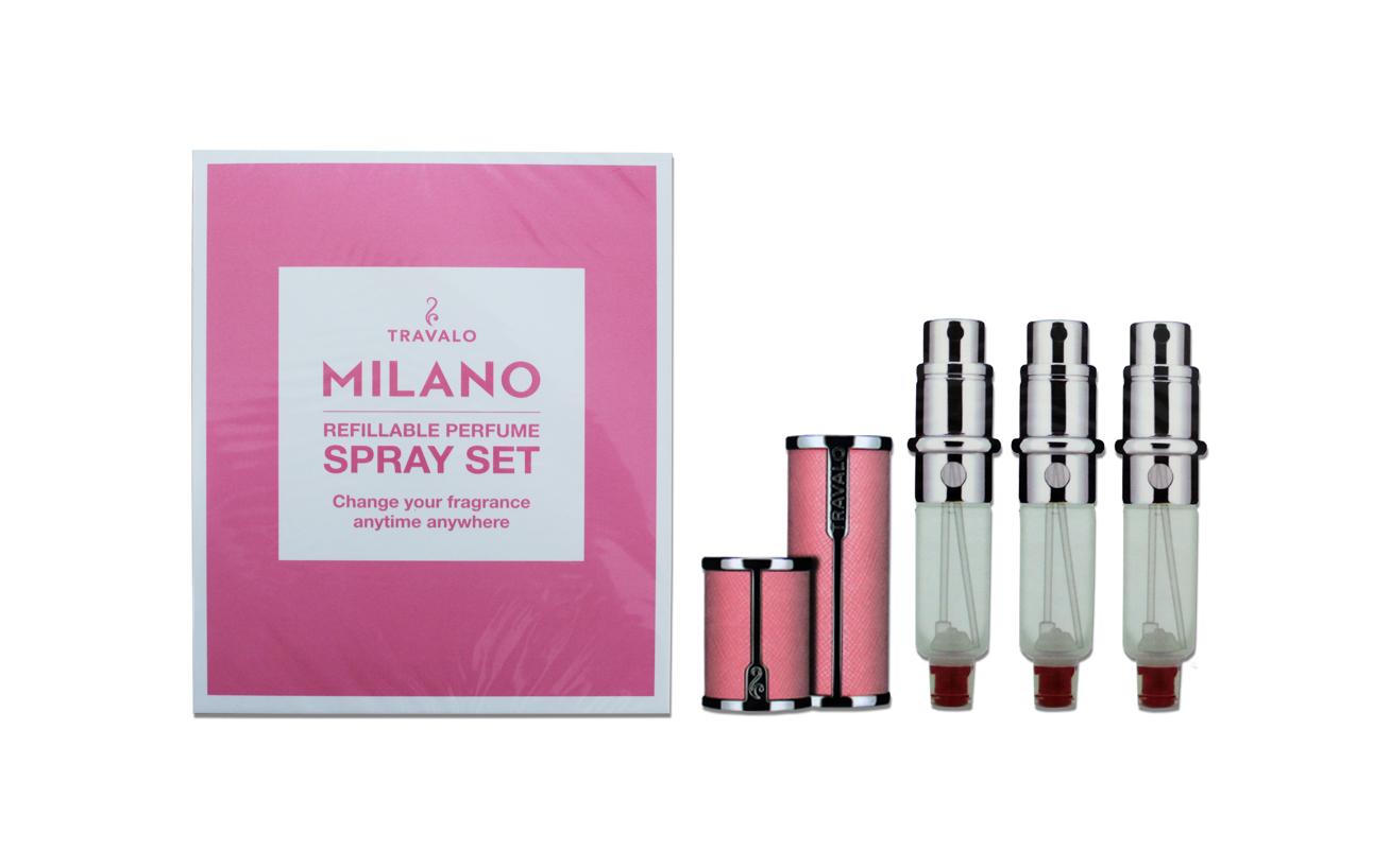 Travalo Milano Spray Set - 1 Case + 3 Engines - Pink