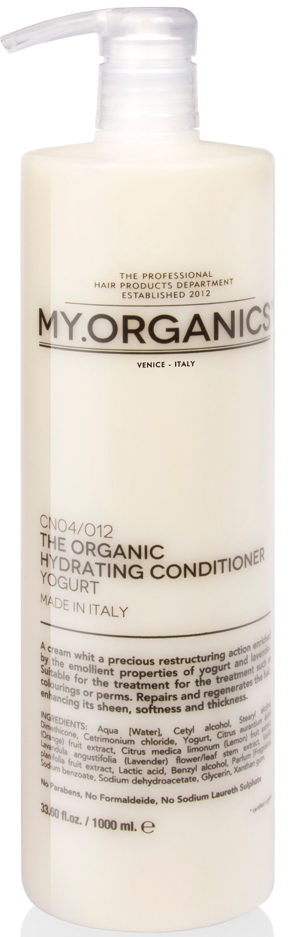 MY.ORGANICS The Organic Hydrating Conditioner Yogurt 1000ml