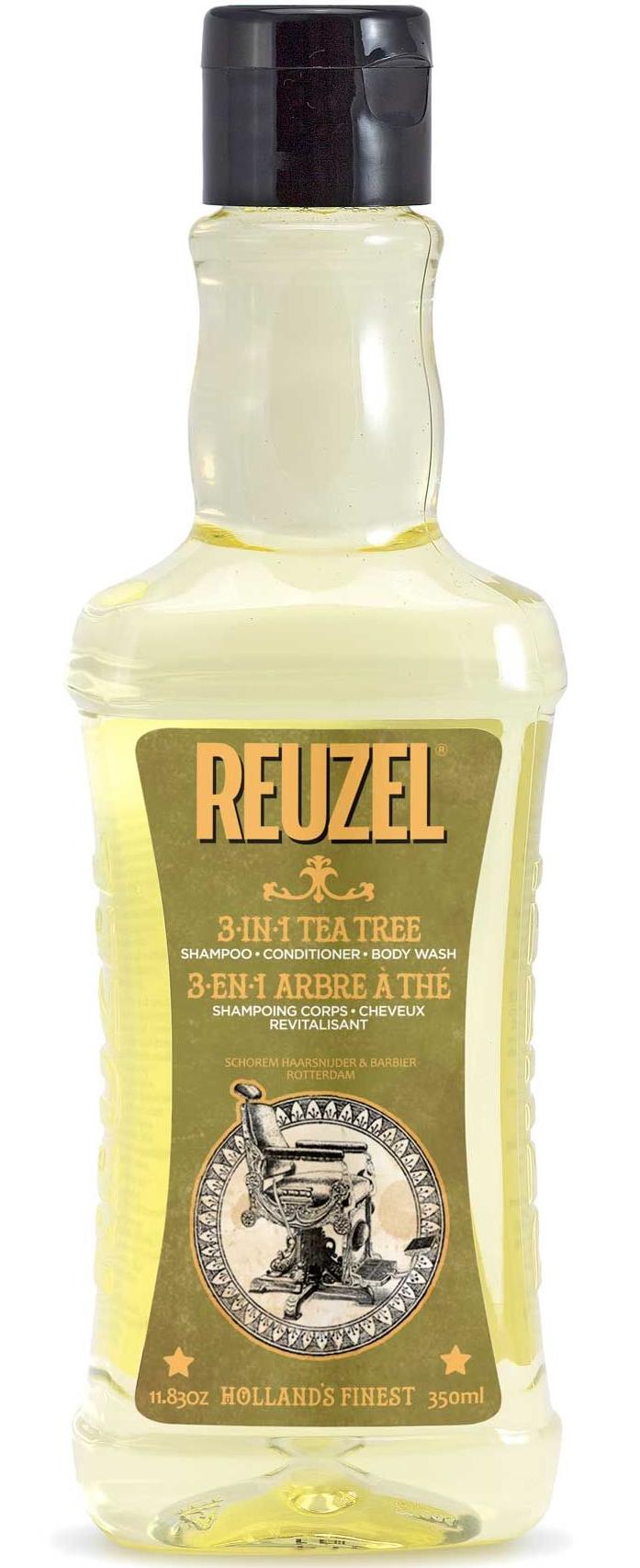 REUZEL 3-in-1 Tea Tree Shampoo-Conditioner-Body Wash 11.83oz/350ml