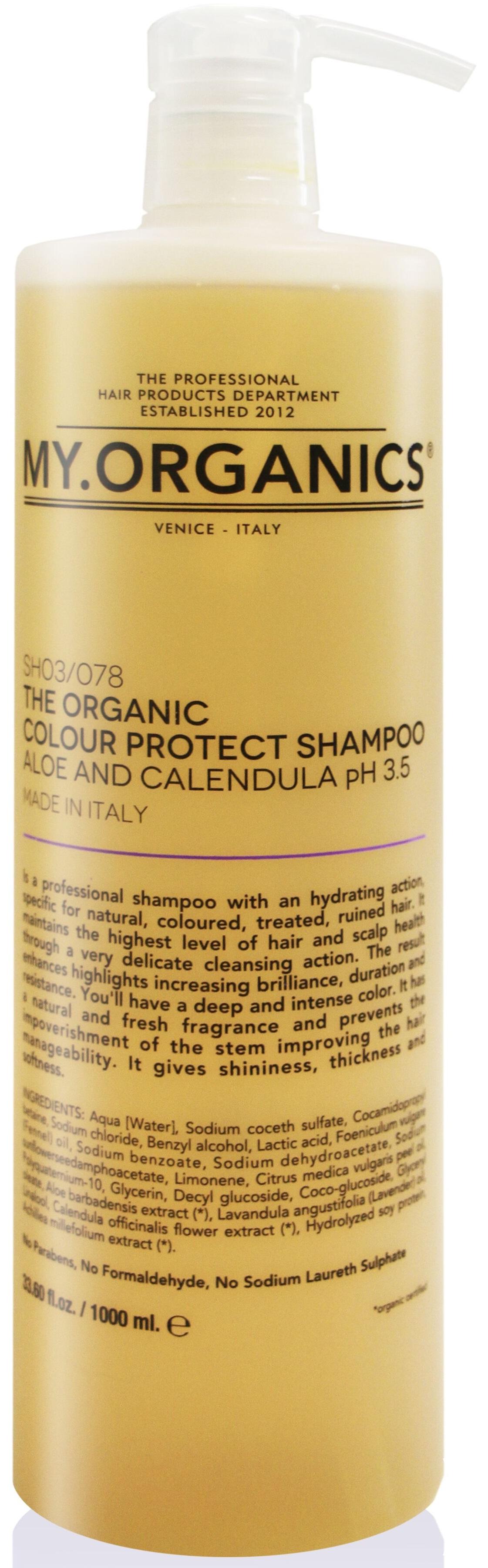 MY.ORGANICS The Organic Colour Protect Shampoo Aloe And Calendula 1000ml