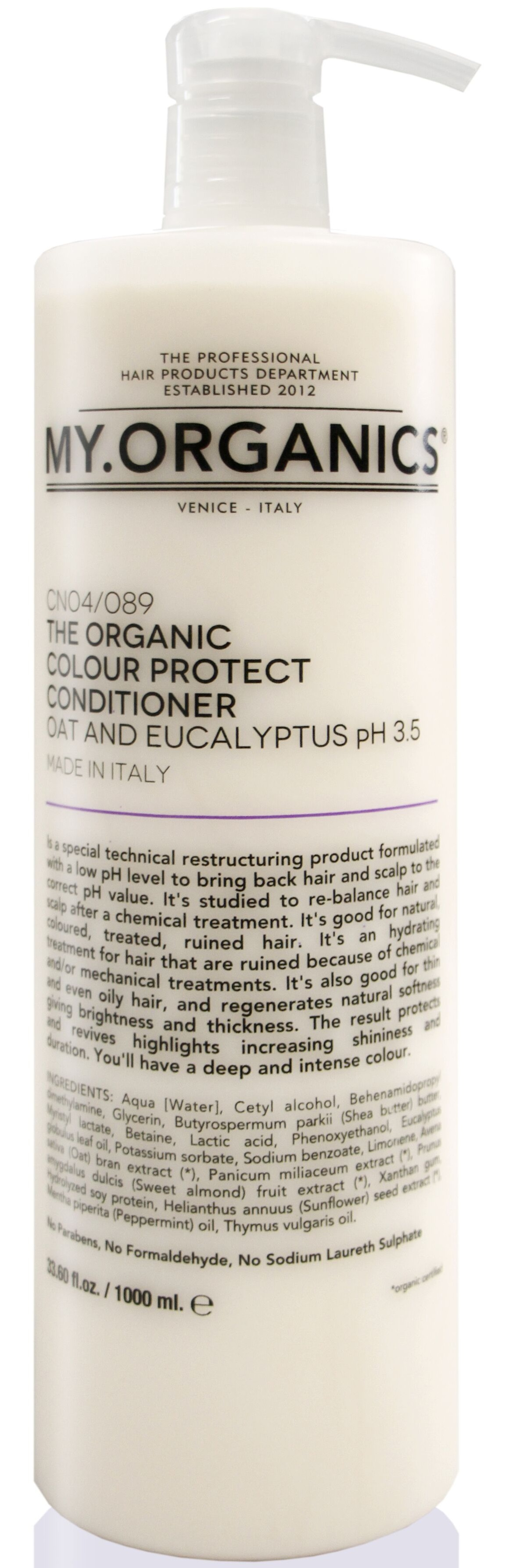 MY.ORGANICS The Organic Colour Protect Conditioner Oat And Eucalyptus 1000ml