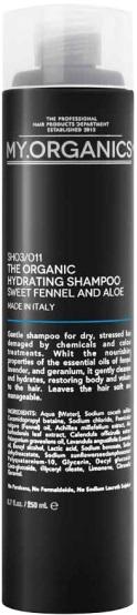 MY.ORGANICS The Organic Hydrating Shampoo Sweet Fennel And Aloe 250ml