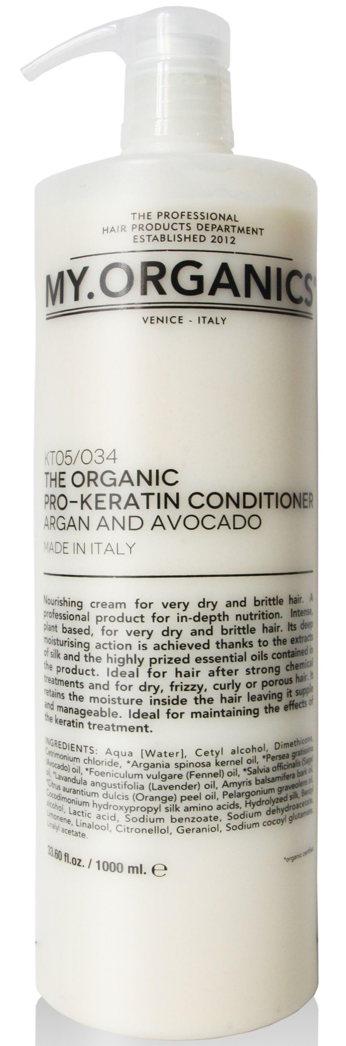 MY.ORGANICS The Organic Pro-Keratin Conditioner Argan And Avocado 1000ml