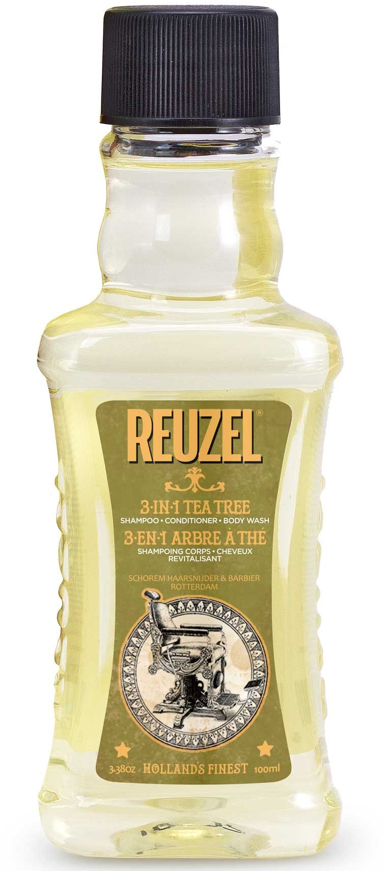 REUZEL 3-in-1 Tea Tree Shampoo-Conditioner-Body Wash 3.38oz/100ml
