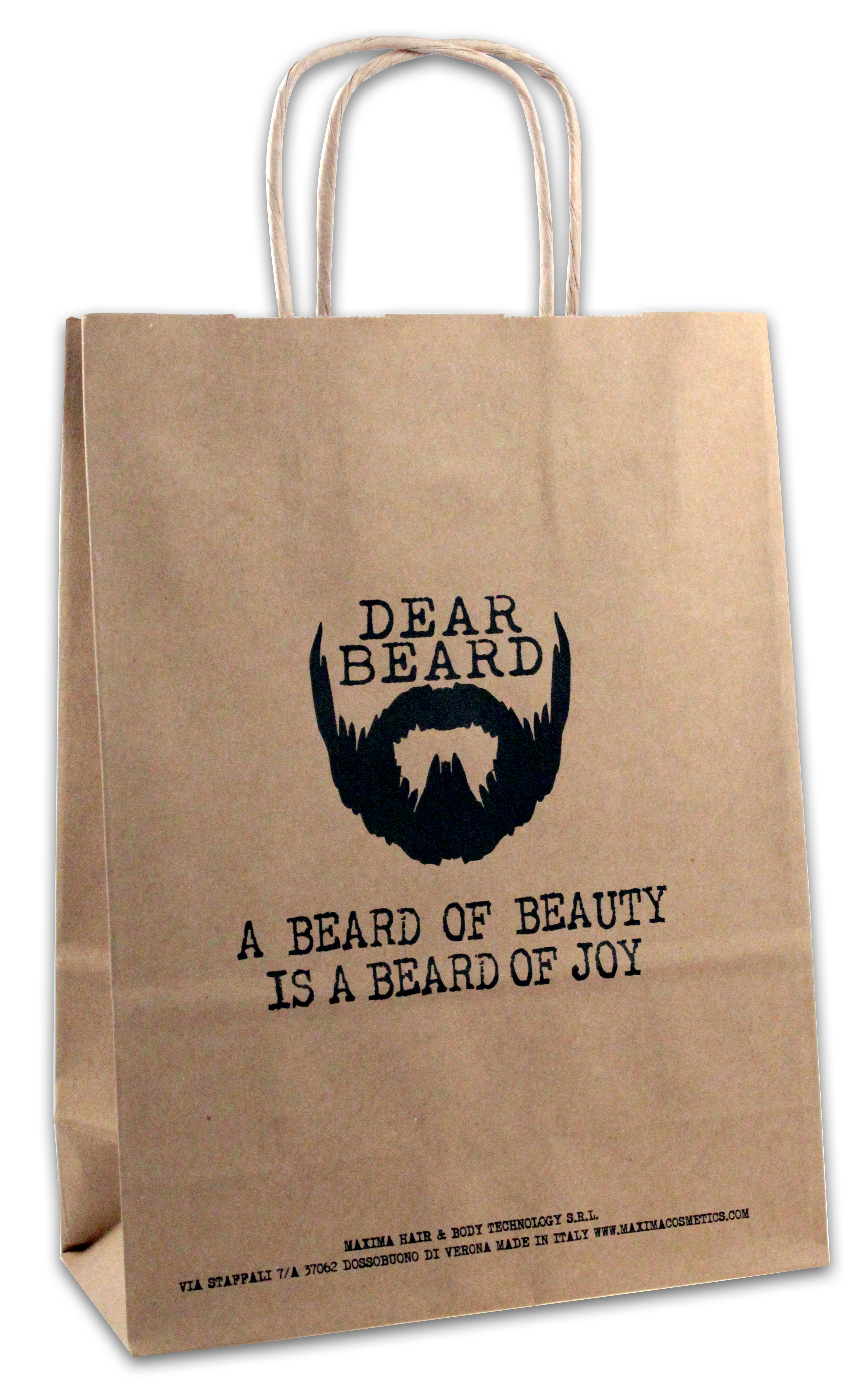 DEAR BEARD Paper Shopper Dimensione 18x8x24