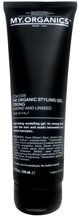 MY.ORGANICS The Organic Styling Gel Strong Almond And Linseed 250ml