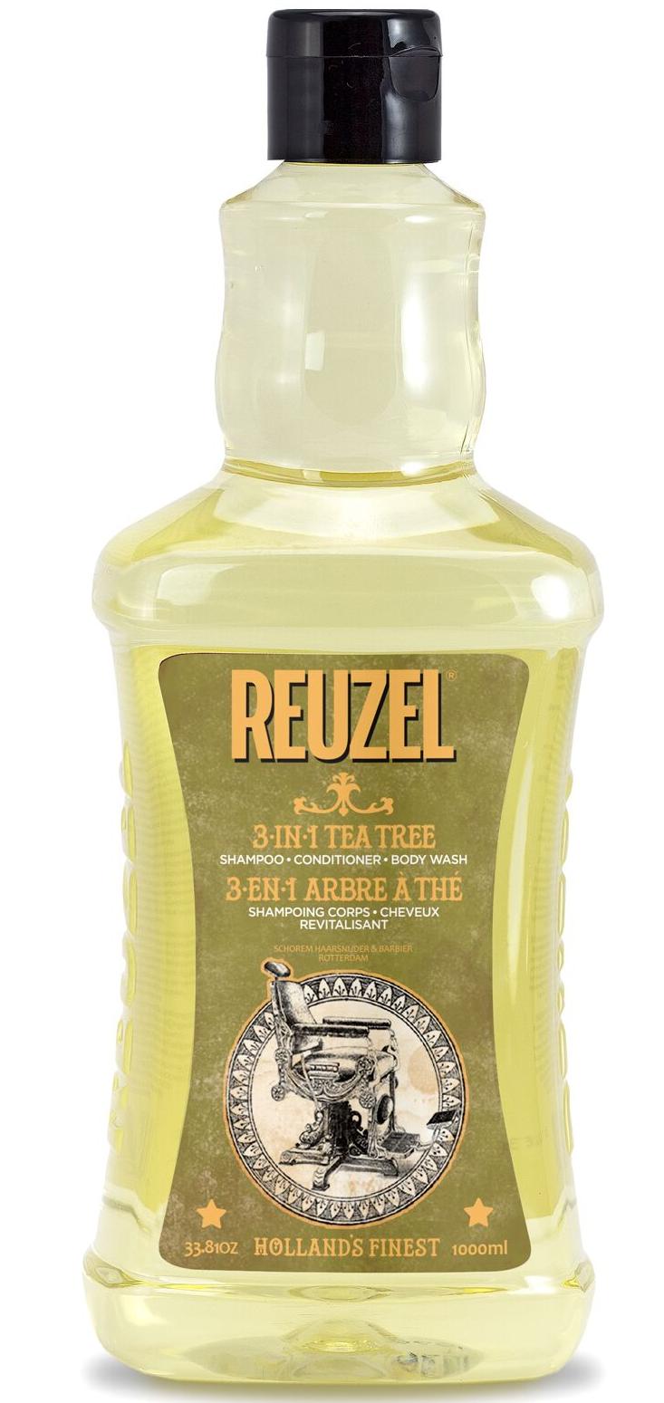 REUZEL 3-in-1 Tea Tree Shampoo-Conditioner-Body Wash 33.81oz/1000ml