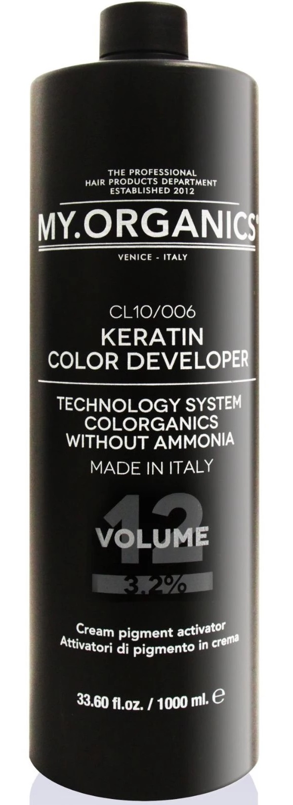 MY.ORGANICS Keratin Color Developer 12Vol 1000ml